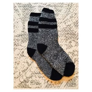 Black & Grey Fuzzy Socks
